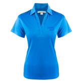 Ladies Light Blue Performance Fine Jacquard Polo-Bendix