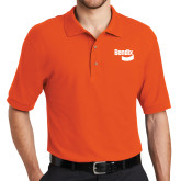 Orange Easycare Pique Polo-Bendix