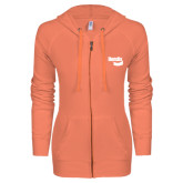 ENZA Ladies Coral Light Weight Fleece Full Zip Hoodie-Bendix