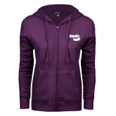 ENZA Ladies Purple Fleece Full Zip Hoodie-Bendix