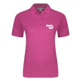 Ladies Easycare Tropical Pink Pique Polo-Bendix