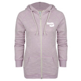 ENZA Ladies Hot Violet Marled Full Zip Hoodie-Bendix