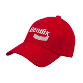 Red Heavyweight Twill Pro Style Hat-Bendix