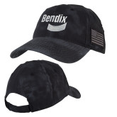 Kryptek Typhon Black U.S. Flag Hat-Bendix