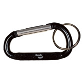 Black Carabiner with Split Ring-Bendix Engraved