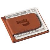 Cutter & Buck Chestnut Money Clip Card Case-Bendix Engraved