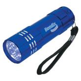 Industrial Triple LED Blue Flashlight-Bendix Engraved