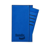 Parker Blue RFID Travel Wallet-Bendix Engraved