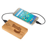Bamboo 5,000 mAh Power Bank-Bendix Engraved