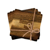 Acacia Wood Coaster Set-Bendix Engraved