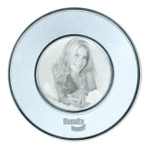 Silver Two Tone Big Round Photo Frame-Bendix Engraved