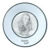 Silver Two Tone Big Round Photo Frame-Bendix Engraved