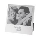 Silver Two Tone 5 x 7 Horizontal Photo Frame-Bendix Engraved