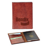 Fabrizio Brown RFID Passport Holder-Bendix Engraved