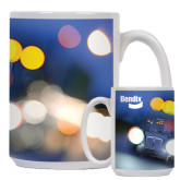 Full Color White Mug 15oz-Bendix Truck in Lights