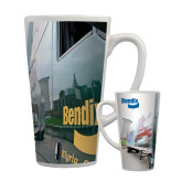 Full Color Latte Mug 17oz-Bendix Truck City Background