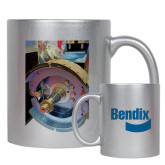 Full Color Silver Metallic Mug 11oz-Bendix Truck ES Brake