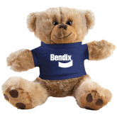Plush Big Paw 8 1/2 inch Brown Bear w/Navy Shirt-Bendix