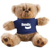 Plush Big Paw 8 1/2 inch Brown Bear w/Navy Shirt-Bendix