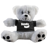 Plush Big Paw 8 1/2 inch White Bear w/Black Shirt-Bendix
