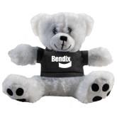 Plush Big Paw 8 1/2 inch White Bear w/Black Shirt-Bendix
