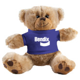 Plush Big Paw 8 1/2 inch Brown Bear w/Royal Shirt-Bendix