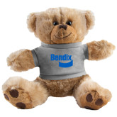 Plush Big Paw 8 1/2 inch Brown Bear w/Grey Shirt-Bendix