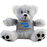 Plush Big Paw 8 1/2 inch White Bear w/Grey Shirt-Bendix