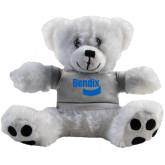 Plush Big Paw 8 1/2 inch White Bear w/Grey Shirt-Bendix