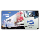 License Plate-Bendix Truck Parking Lot