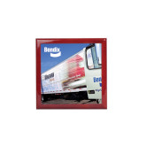 Red Mahogany Accessory Box With 6 x 6 Tile-Bendix Truck Parking Lot