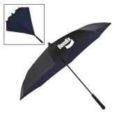 48 Inch Auto Open Black/Navy Inversion Umbrella-Bendix