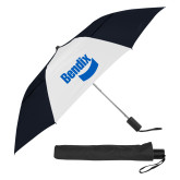 42 Inch Slim Stick Black/White Vented Umbrella-Bendix