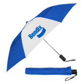 42 Inch Slim Stick Royal/White Vented Umbrella-Bendix
