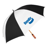 64 Inch Black/White Vented Umbrella-Bendix