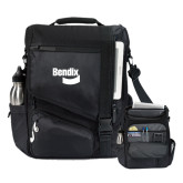 Momentum Black Computer Messenger Bag-Bendix