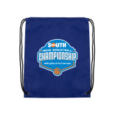 Royal Drawstring Backpack-Big South Mens Basketball Championship