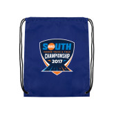 Royal Drawstring Backpack-Big South Track and Field Championship