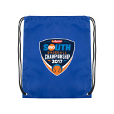 Royal Drawstring Backpack-Hardies Big South Baseball Championship 2017