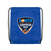 Royal Drawstring Backpack-Big South Cross Country Championship 2017