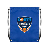 Royal Drawstring Backpack-Big South Tennis Championship 2017
