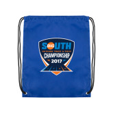 Royal Drawstring Backpack-Big South Outdoor Track and Field Championship 2017