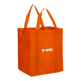 Non Woven Orange Grocery Tote-Big South