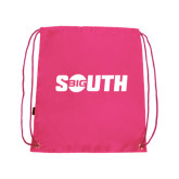 Pink Drawstring Backpack-Big South
