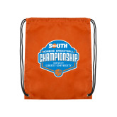 Orange Drawstring Backpack-Big South Womens Basketball Championship
