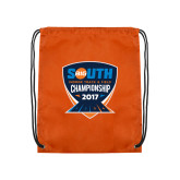 Orange Drawstring Backpack-Big South Track and Field Championship