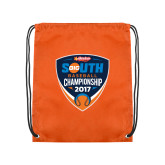 Orange Drawstring Backpack-Hardies Big South Baseball Championship 2017