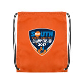 Orange Drawstring Backpack-Big South Cross Country Championship 2017