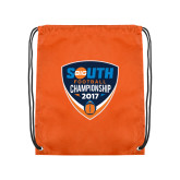Orange Drawstring Backpack-Big South Football Championship 2017