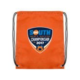 Orange Drawstring Backpack-Big South Mens Soccer Championship 2017